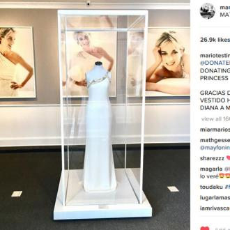 Donatella Versace donates Diana's dress to MATE Museo