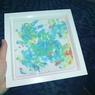 Drake gifted finger painting from son