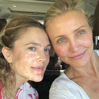 Drew Barrymore is happy to go makeup free