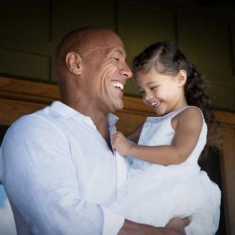 Dwayne Johnson can't believe his middle daughter is four