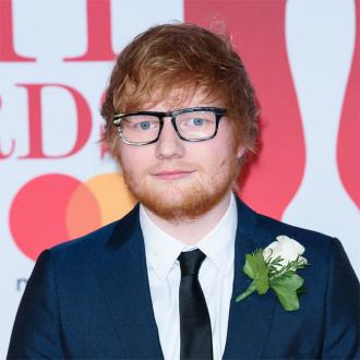 Ed Sheeran models in fragrance parody