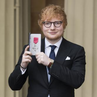 Ed Sheeran becomes MBE and hints at Prince Harry wedding gig