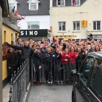 Ed Sheeran films Galway Girl video in Galway