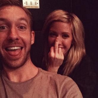 Ellie Goulding And Calvin Back In The Studio