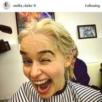 Emilia Clarke goes blonde