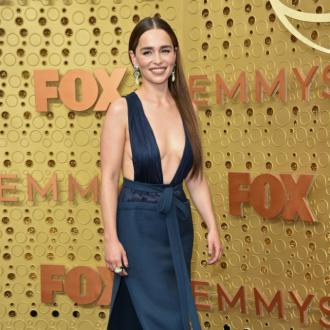 Emilia Clarke channels Jennifer Lopez's Hustlers character Ramona at Emmys