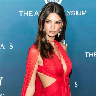 Emily Ratajkowski channels Jerry Hall in Peter Dundas dress