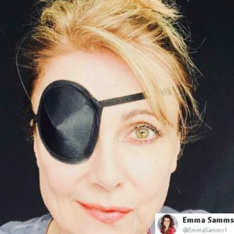 Emma Samms struck down with Bell's palsy