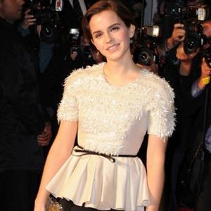 Emma Watson Promotes Lancome Lipstick