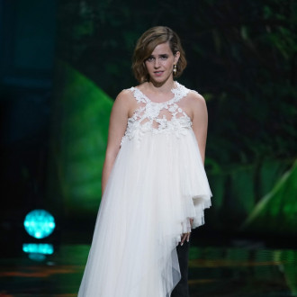 Emma Watson's Earthshot Prize gown upcycled from 10 Oxfam wedding dresses