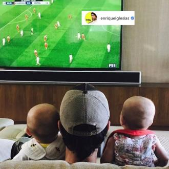 Enrique Iglesias shares twin picture