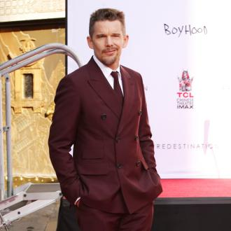 Ethan Hawke has learnt to act spontaneously from his former half-wolf co-star