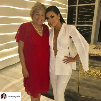 Eva Longoria credits her mother for her 'great head of hair'