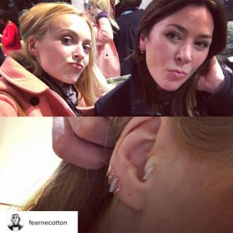 Fearne Cotton has 'omelette' ears