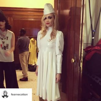 Fearne Cotton found modelling Pam Hogg's show the most 'terrifying/thrilling 10- minutes'