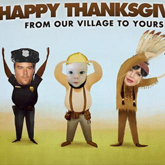Fergie's Family Become Village People For Thanksgiving