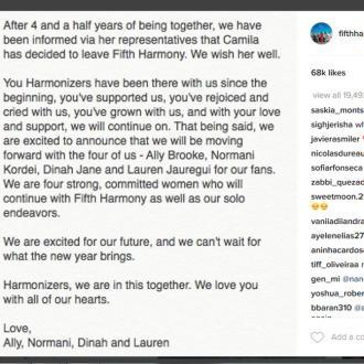 Camila Cabello Quits Fifth Harmony