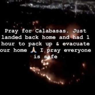Kim Kardashian West's Calabasas home evacuated after mass fire