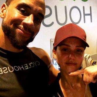 Jessica Alba hits gym six weeks after giving birth