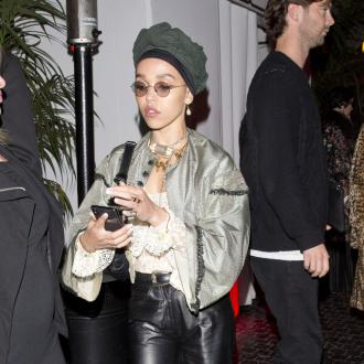 FKA Twigs split stitches filming ad