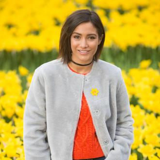 Frankie Bridge helps unveil Marie Curie's Garden of Light