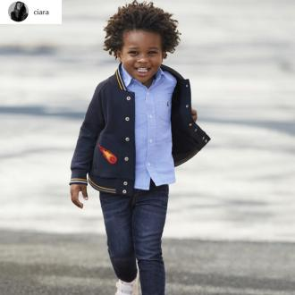 Ciara's Son Makes His Modelling Debut