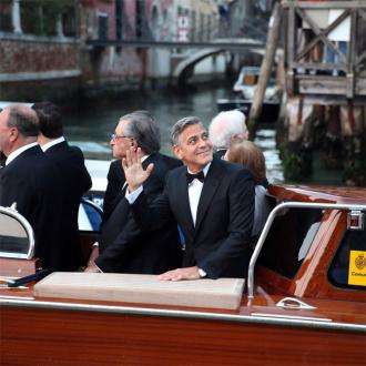 George Clooney Arrives At His Wedding By Speedboat