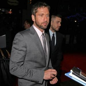 Gerard Butler Spotted Kissing Model