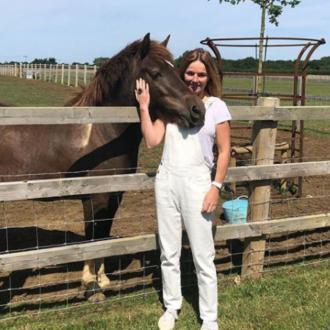 Geri Horner adopts a pony