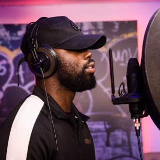 Ghetts opens PUMA's Suede Music Studio in London