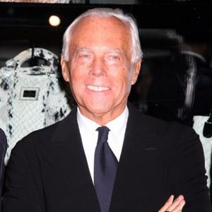 Giorgio Armani | Giorgio Armani Says Genius Won't Take Over Label ...