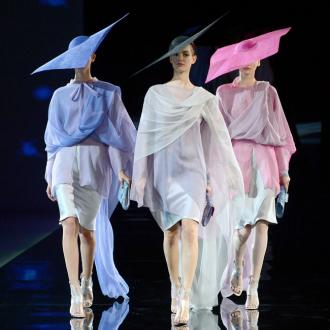 Giorgio Armani's Hats Steal The Show At Milan Fashion Week