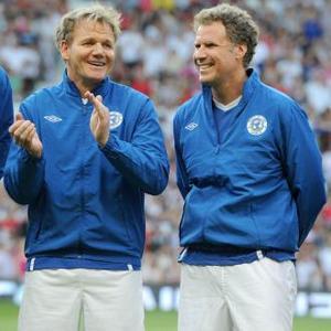 Gordon Ramsay And Will Ferrell Injured At Soccer