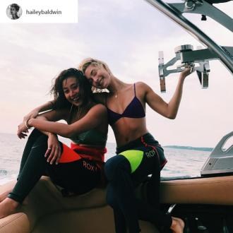 Hailey Baldwin Is Learning How To Surf