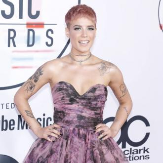Halsey helped by music