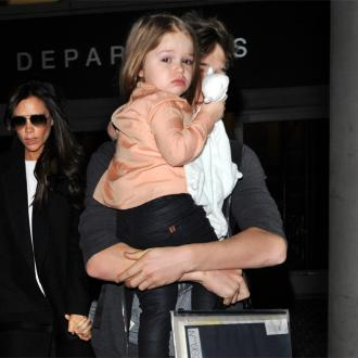 Harper Beckham Dresses Dad David
