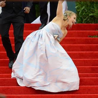 Hayden Panettiere Takes A Tumble At Met Gala