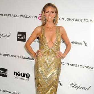 Heidi Klum And Kim Kardashian Party At Elton's Oscars Bash