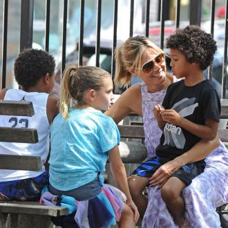 Heidi Klum Keeps Kids' Hair To Make Art
