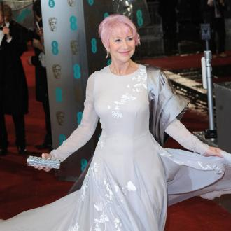 Helen Mirren Debuts Pink Hair At  Baftas