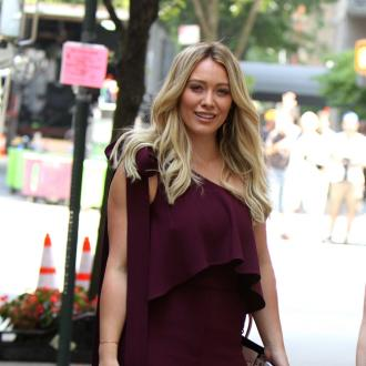 Hilary Duff doesn't leave the house