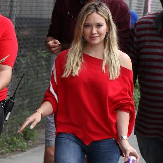 Hilary Duff's proud morning