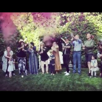 Hilary Duffs shares gender reveal video