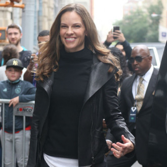Hilary Swank creates sweater and dog jumper pattern to raise funds for Hilaroo Foundation