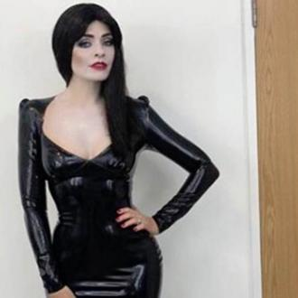Holly Willoughby dresses as Morticia Addams for Halloween