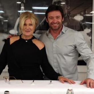 Hugh Jackman Has Cocktails For Anniversary