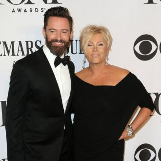 Hugh Jackman's sleepy wife