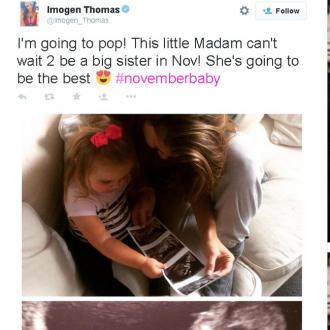 Imogen Thomas pregnant again