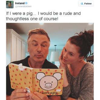 Ireland Baldwin Mocks 'Pig' Insult