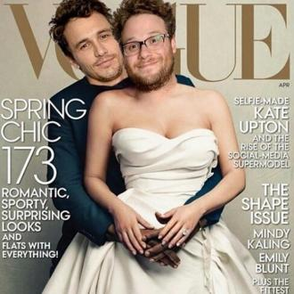 James Franco And Seth Rogen Spoof Kim Kardashian Vogue Cover